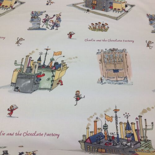 Ashley Wilde Official Roald Dahl-Chocolate Factory Cotton Fabric by the Metre