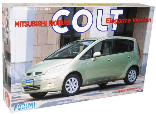 MITSUBISHI Colt verde z30 5 porte 2004-2008 prima Facelift KIT KIT 1//24 fujim...