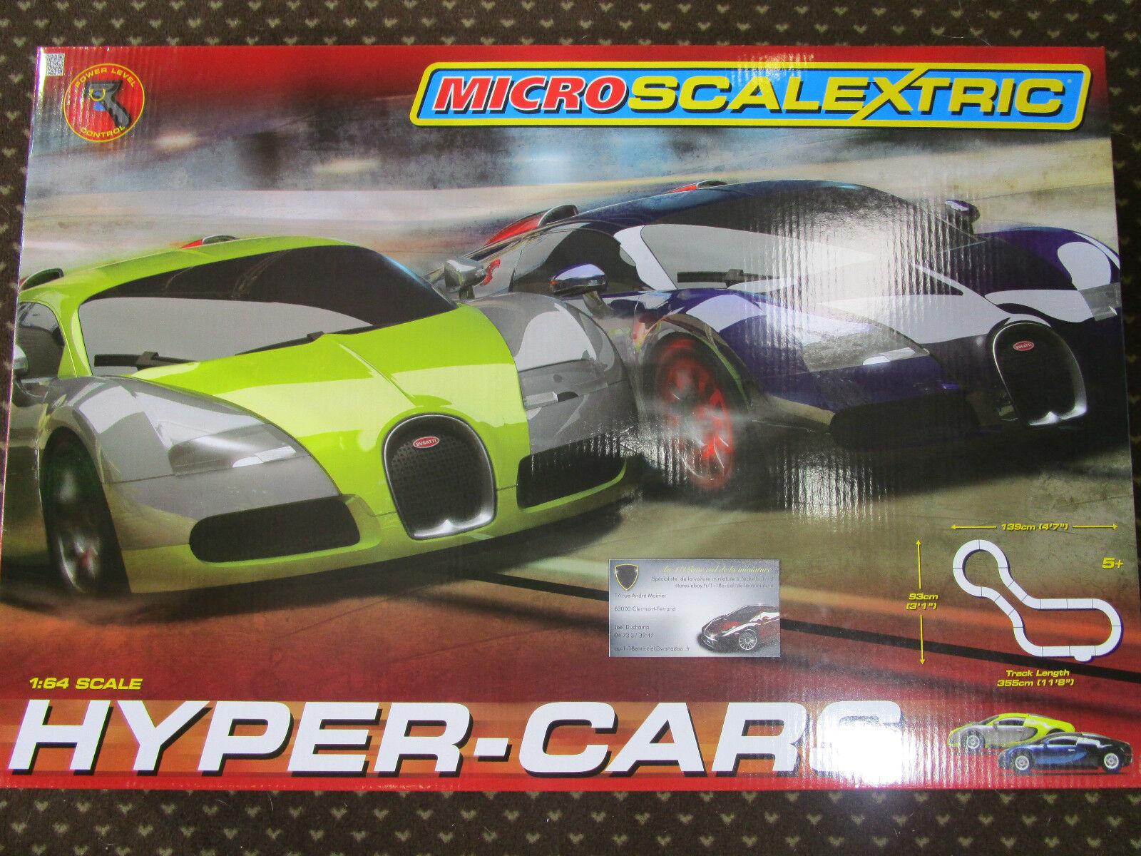 COFFRET CIRCUIT HYPER CARS au 1 64 MICRO SCALEXTRIC G1108 SOLT
