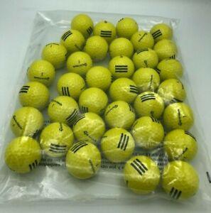 TaylorMade 3 Stripe Golf Balls Burner Soft Distance Control Yellow 3 Dozen New