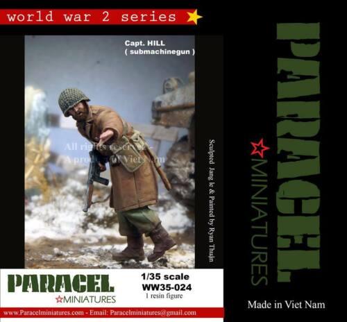 Hill Paracel Miniatures 1//35 WWII US Soldier Submachinegun Capt
