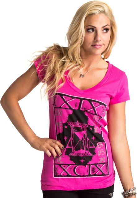 Metal Mulisha Ladies Destiny V-Neck Tee Size S