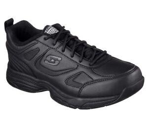 77200 W Wide Fit Black Skechers shoes