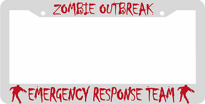 Zombie Outbreak Emergency Response Team License Plate Frame