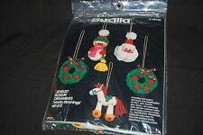 Bucilla Holiday Ornaments Woolly Trimmings Felt Applique Christmas Jeweled Kit