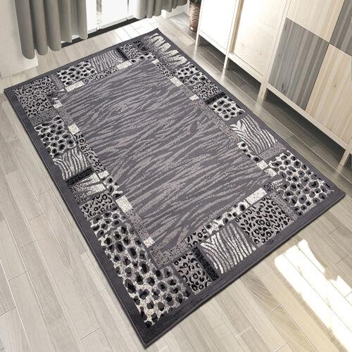 Teppich Grau Weiß Rot Kurzflor Modern Wohnzimmer Flach TeppicheViele Größen