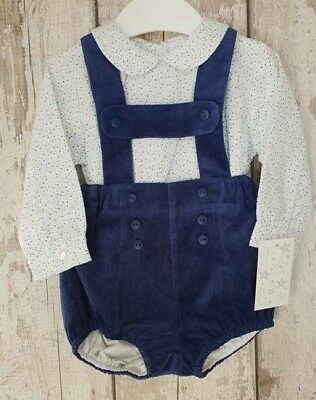 Outfit Spanish Style Baby Boy H Bar Jam Pants Dungaree Shorts and Shirt Set