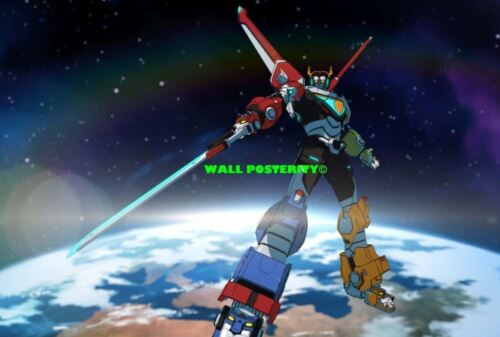 VOLTRON Choose Size /& Media Type C Canvas or Poster 80s 90s Poster