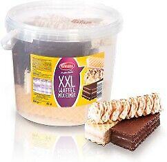 Nawarra-XXL-Waffelmix-Eimer-mit-kakaohaltiger-und-weisser-Glasur-600g