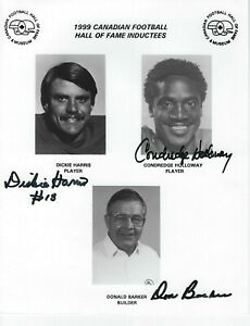 CFL-Hall-of-Fame-1999-Dickie-Harris-Condredge-Holloway-Don-Barker-autographed