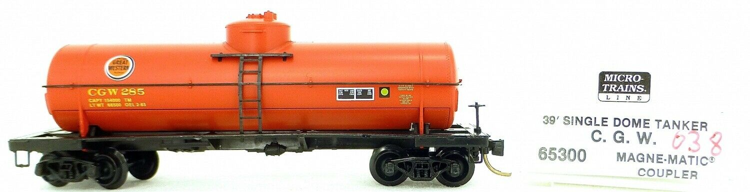 Micro Trains Line 65300 C. G. W.285 39' Single Dome Tank Car 1 160 Ovp  I038 Å