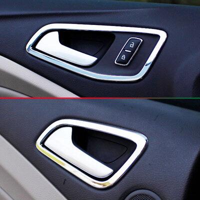 Chrome Door Handle Catch Covers Trim For Ford Focus C-Max Escape Kuga 2013-2018