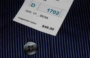 fit Axcess Blue Dress Shirt~ Dark 48~nwt W Mens Stripes~ light Pin Navy Classic UBUqWaTrz