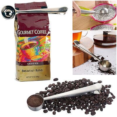 Coffee Measuring Scoop With Bag Clip Sealing Tea Milk Powder Measuring Spoon MZN