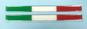 2-x-ITALIAN-FLAG-COLOUR-STICKERS-LARGE-180mm-x-15mm-HIGH-GLOSS-DOMED-GEL-FINISH