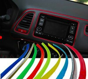 flexible car interior external decorative trim strip moulding line 5m universal ebay. Black Bedroom Furniture Sets. Home Design Ideas