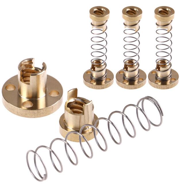 T8 Anti Backlash Spring Loaded Nut For 3D Printer 8mm Threaded Rod Lead Screw MZ