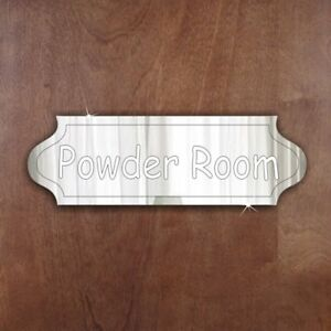 POWDER-ROOM-Door-Sign-Plaque-Signage-Personalised-Name-Room-Acrylic-Mirror-Gift