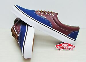 1c6325c726 Vans Era Leather Plaid Estate Blue Potting Soil VN00018FIFY Men s ...