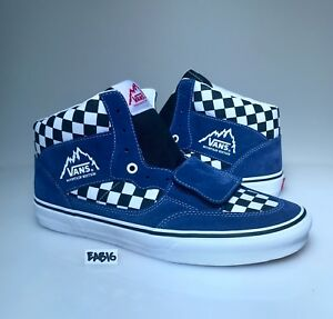00e0725249 Image is loading Vans-Mountain-Edition-Checkerboard -Blue-Black-White-Checker-