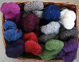 50g CONTATTO MONDIAL Merino Alpaka Tweed Irish Felted Donegal Wolle Alpaca 871