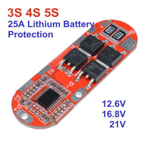 3S//4S//5S BMS 25A 18650 Li-ion Lithium Battery Protection Circuit Charging Board