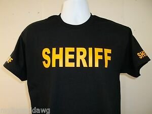 SHERIFF-Tee-T-Shirt-Your-Choice-Of-Shirt-Color-amp-Print-Colors-Free-Shipping