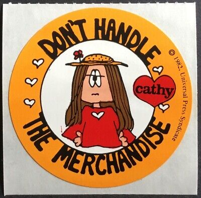 Vintage 80s Stickers Cathy Cartoon Mint Condition!!