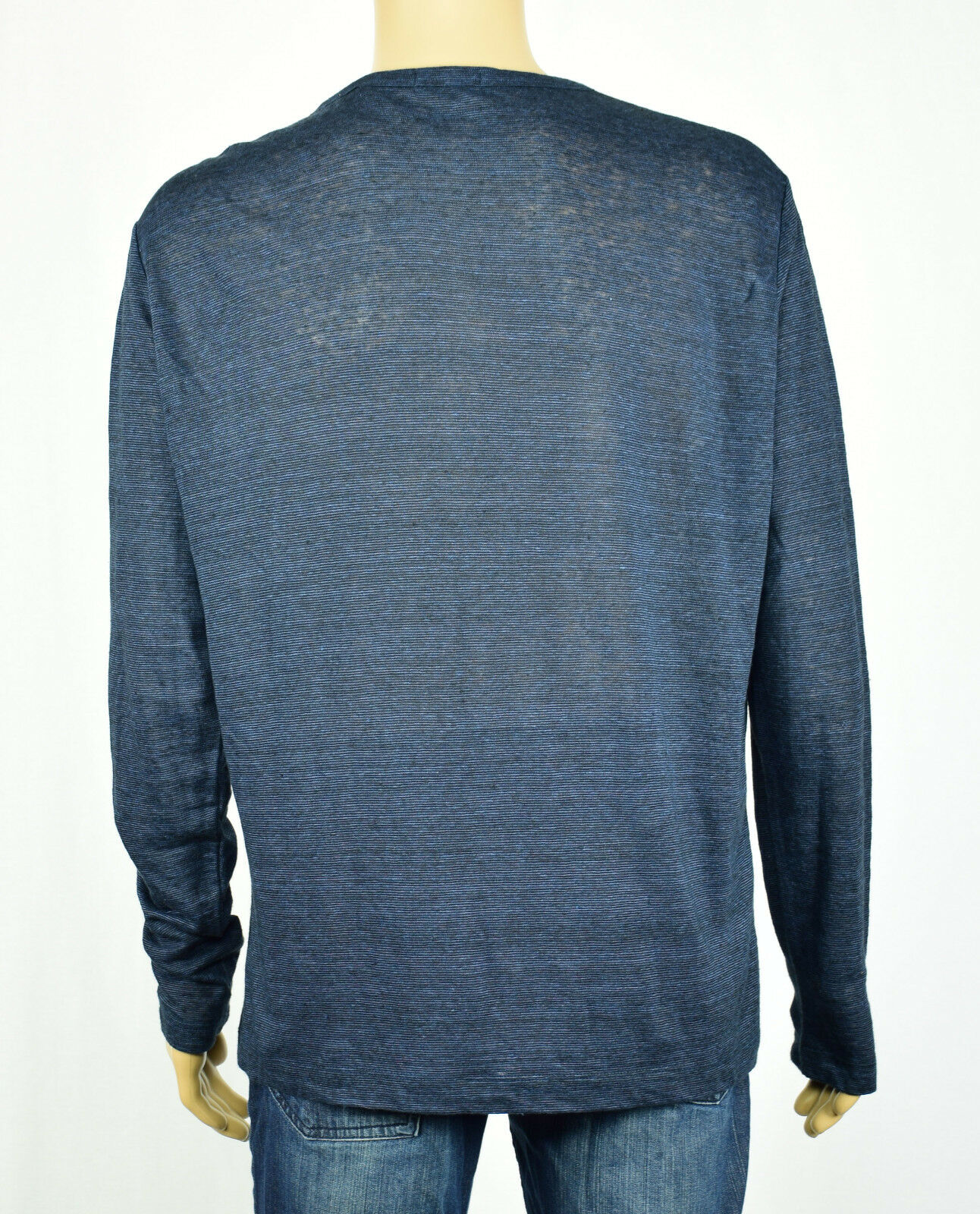 Theory Theory Theory Bleu pour Hommes/Noir Arlee L Femmeches Longues Henley Chemise XL 4107dd