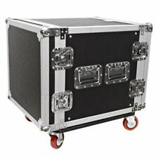 Seismic Audio 10 Space Rack Case Amp Effect Mixer Pa/dj Wheel/casters