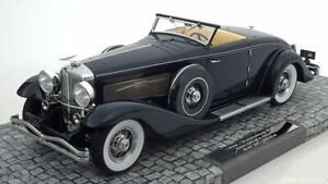 Duesenberg Sjn Supercharged Convertible Coupé 1936 Blue Minichamps 107150332