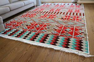 Carpet-2x3-m-6-5-039-x-10-039-Area-Rug-oriental-Floor-mat-Kelim-Washable-S1622