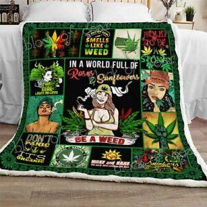Weed-Girl-Sofa-Fleece-Blanket-50x60-60x80-Made-In-US-Fast-Shipping