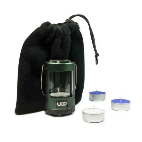 Uco Mini en aluminium anodisé Vert Bougie Lanterne Kit Bushcraft Camping Randonnée