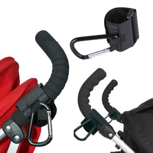1Pc Fashion Black Baby Stroller Hook Pram Hanger For Baby Car Carriage BuggRSDE