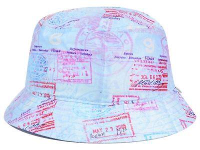 Official Brand Skateboarding Passport Bucket Style Fishing Cap Hat  L//XL