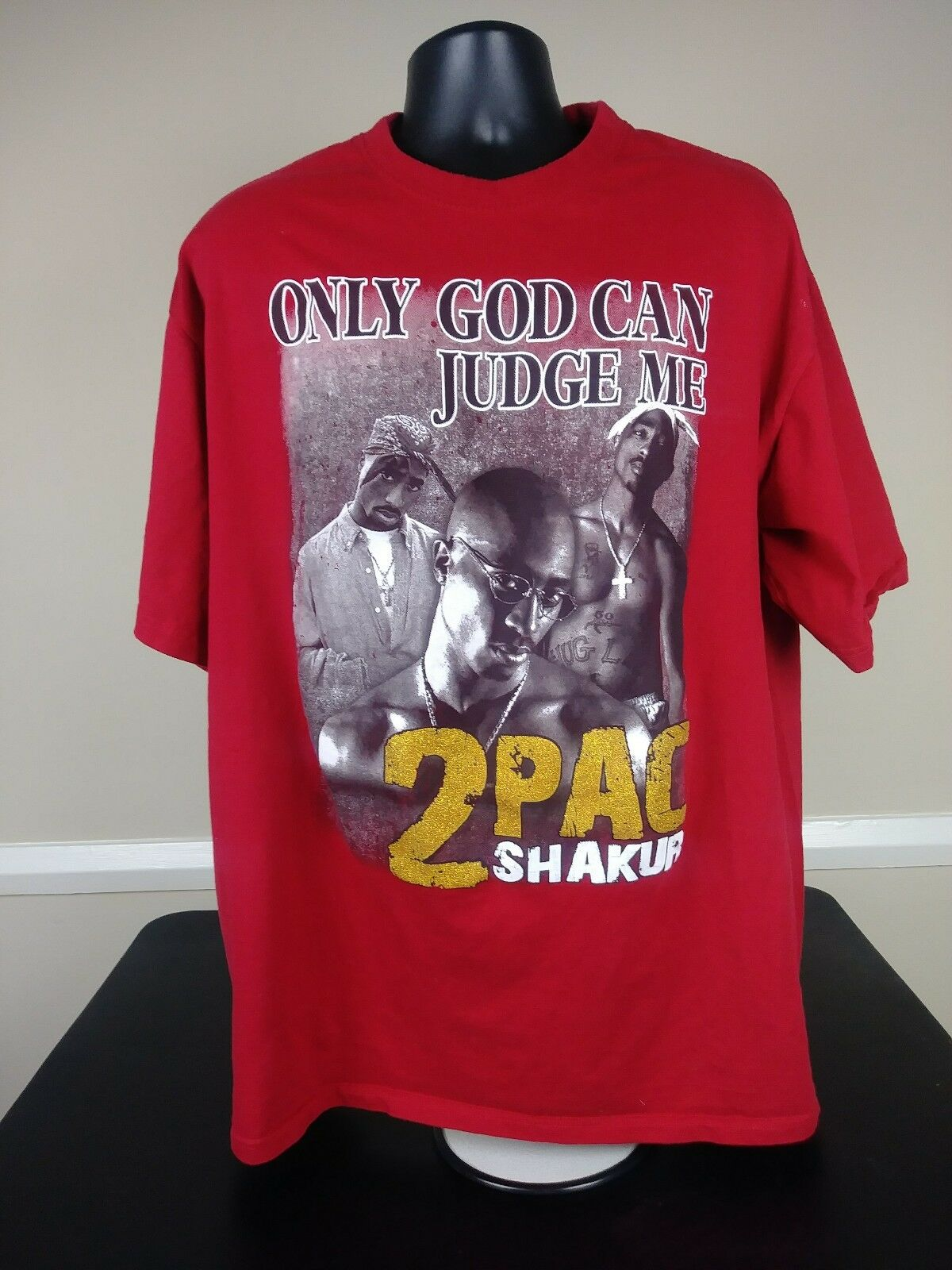 7d7ab0828600 Vintage 90s Tupac Shakur Rap Tee T Shirt 2pac Hip Hop Mens Size 4xl Red Phat