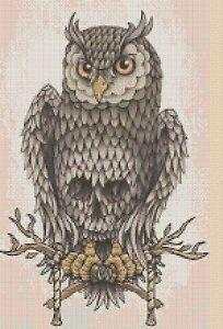 Owl-Cross-Stitch-Chart-Colourful-Owl-14-pop-art-No-392-TSG37