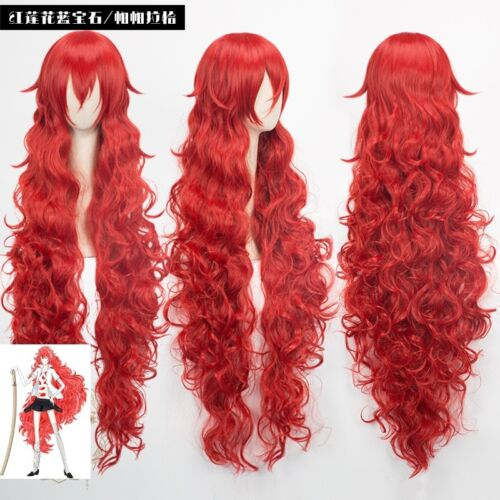 Land of the Lustrous Padparadscha red long Cosplay Wig COS