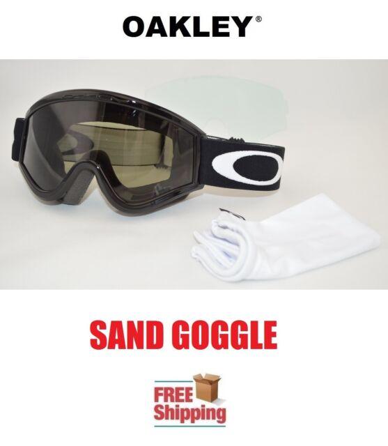Jet Black/dark Grey Oakley L Frame OTG Sand Goggle Dirt Bike ...
