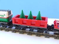 Custom Holiday Christmas Tree Train Car Built W/ Lego Bricks Fits 9v Rc Ir