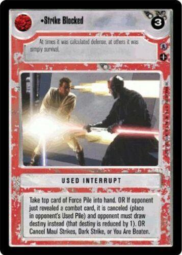 Star Wars CCG Reflections III Strike Blocked