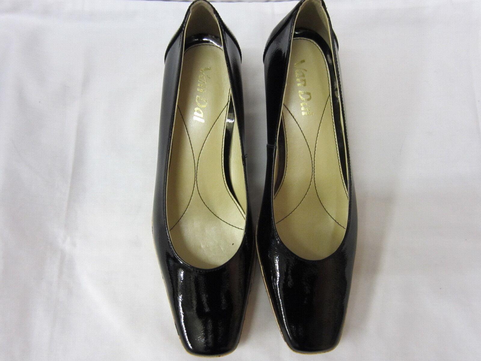 Damen D Van Dal Keilabsatz Schuhe schwarz Lackleder PALAWAN D Damen Einbau 513306