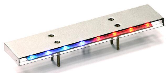 1/10 RC POLICE LIGHT BAR Low Profile FLASHING RED/BLUE Metal RC Police Lights