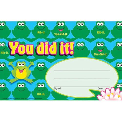 certificado de premios de reconocimiento ranas Pad-recompensa Niños//Niños Lo has conseguido
