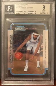 2003-04-Carmelo-Anthony-Bowman-Chrome-RC-Rookie-Card-140-BGS-9-MINT