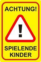 Schild achtung Spielende Kinder, Warnhinweis, Langsam Fahren, 30 X 40cm Art 75