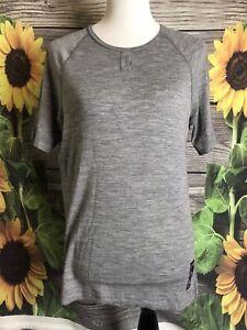 RAPHA Femme Classique T-Shirt Homme Poids Léger Grand Gris 100/% Mérinos Top Large Bnwt