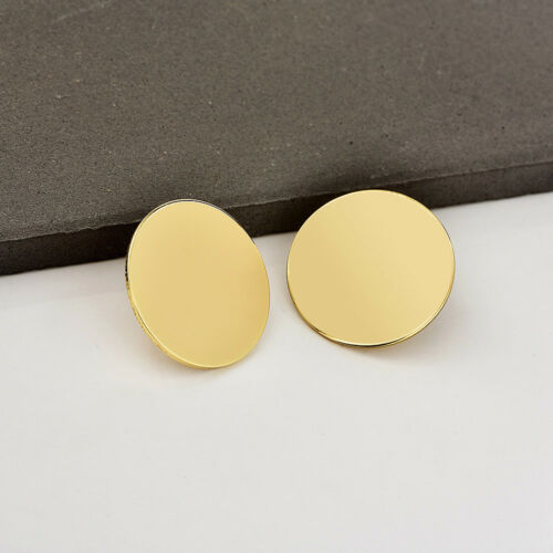 New Women Statement Alloy Geometric Circle Ear Stud Hoops Crystal Pearl Earrings