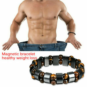 Black-Magnetic-Hematite-Stone-Therapy-Health-Care-Weight-Loss-Bracelet-Jewelry